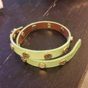 Toey burch mint green double wrap bracelet